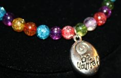 Rainbow Quartz Bracelet Be Yourself PRIDE  by LetitBJewelry, $14.99
