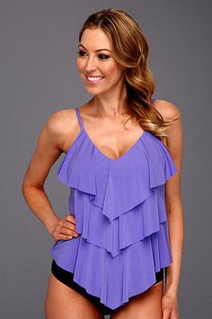 ✿Magicsuit by Miraclesuit✿Rita Tankini Lilac/Black Brief✿Two Piece Swimsuit