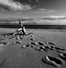 Fotografia krajobrazowa w czerni i bieli