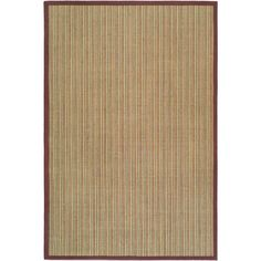 Natural Fiber Blue/Purple 8 ft. x 10 ft. Area Rug