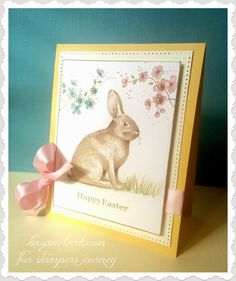 Vintage Style Easter Card with @FSJourney and Copic Markers