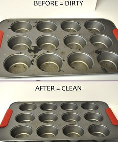 Dryer Sheets to clean cupcake pans