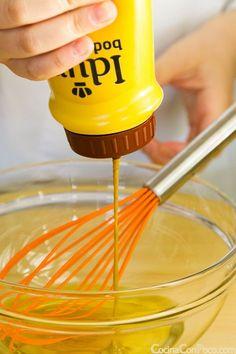vinagreta de miel y mostaza para ensaladas receta Vegan Recipes, Liliana, Sauces, Salad Dressings, Dips, Vegetarian, Honey Mustard Dressing, Mayonnaise, Chutneys