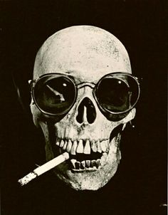 43158aeef3983 Skull with sunglasses Memento Mori