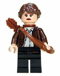 """2"""" Hunger Games Mini Figurine - Katniss Everdeen in District 12 Clothing by LEGO. $8.99. LEGO® is a trademark of the LEGO Group of Companies which does not sponsor, authorize or endorse this product    Hunger Games is trademark Susan Collins who does not sponsor, authorize or endorse this product"""