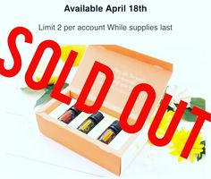 I hope that everyone who wanted one was able to get their Mother's Day Trio Kit of essential oils!  dōTERRA has officially sold out...