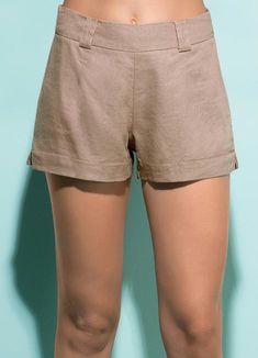 Short Alfaiataria Marrom - Posthaus Fashion Days, Womens Fashion, Dress Skirt, Ideias Fashion, Bermuda Shorts, Casual Shorts, Underwear, Trousers, Street Style