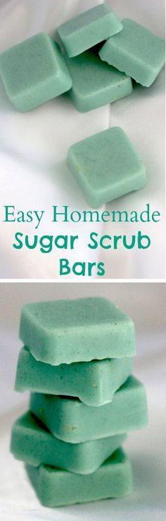 Easy homemade sugar scrub bars cup coconut oil cup melt and pour soap base drops essential oil 1 cup sugar Silicone mold Colorant (optional) Diy Cosmetic, Sugar Scrub Homemade, Homemade Body Scrubs, Sugar Scrub Recipe, Homemade Butter, Homemade Facials, Butter Recipe, Diy Scrub, Bath Scrub