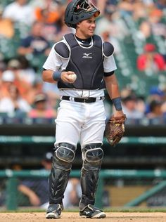 The Detroit Tigers James McCann at home plate during