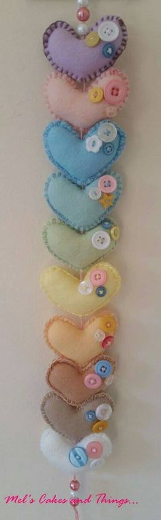 Check out this item in my Etsy shop https://www.etsy.com/uk/listing/250493067/love-heart-garland-in-rainbow-pastel