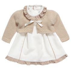 Baby Girls Ivory Dress & Cardigan Set - Baby | Childrensalon