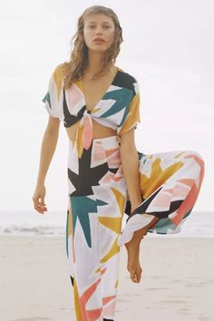 Tie Front Cropped Top #MaraHoffman