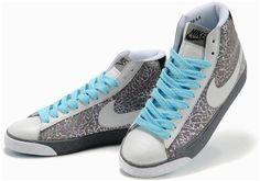 nike High Tops Women   Women Nike Blazer High Top Shoes Grey White1