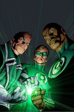 Art & images from DC Comic's The Green Lantern