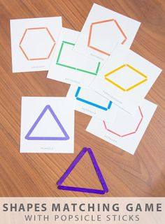 Shapes with popsicle sticks