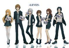Toaru - Accelerator, Gunha, Mikoto, Misaki, Shizuri and Teitoku art by Zarutsu (Zerochan)