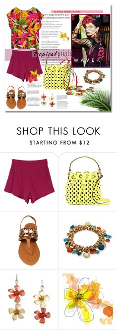 """""""playing with colors"""" by psyche8778 ❤ liked on Polyvore featuring RVCA, Milly, New Directions and Betsey Johnson"""
