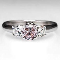 GIA Fancy Pink Diamond Engagement Ring in Platinum