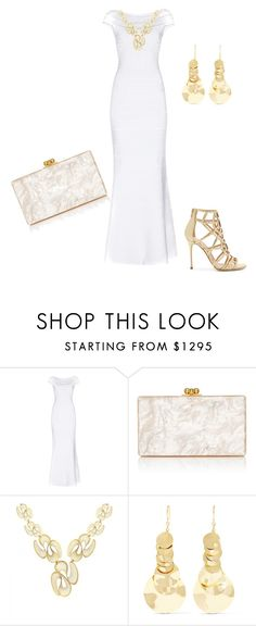 """""""Untitled #1038"""" by cookmary ❤ liked on Polyvore featuring Hervé Léger, Edie Parker, Ippolita and Sergio Rossi"""