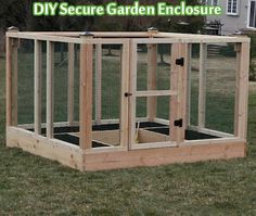 DIY Secure Garden Enclosure - Living Green And Frugally