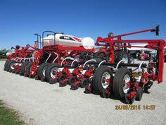 Rear of 16 row White 9800 corn planter