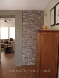Alpi Stone   Gray   Stacked Stone   Faux Stone Panels   Living Room To  Kitchen