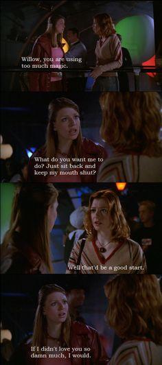 Tara and Willow from Buffy the Vampire Slayer.