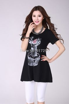 2015 New Fashion Animal Flower Printing Short Sleeve Round Neck Clim Casual Women's Cotton Summer Shirts Female Tops Clothes-in Blouses & Shirts from Women's Clothing & Accessories on Aliexpress.com | Alibaba Group