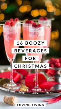 16 Boozy Adult Beverages: Christmas Edition – Loving Living - - 16 Boozy Adult Beverages: Christmas Edition – Loving Living All Pins Christmas Drinks Alcohol, Christmas Party Drinks, Christmas Brunch, Christmas Appetizers, Christmas Cooking, Holiday Cocktails, Christmas Mocktails, Christmas Sangria, Holiday Alcoholic Drinks