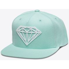 Brilliant Snapback in Diamond Blue (€89) ❤ liked on Polyvore featuring accessories, hats, diamond snapback, diamond hats, snapback hats, snap back hats and blue hat