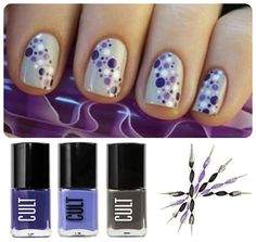 Matted Dot Nails by CULT