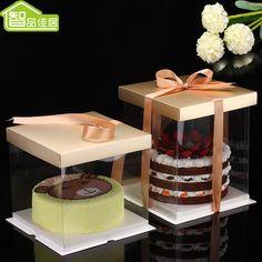 蛋糕盒8寸透明生日蛋糕盒10寸6寸翻糖奶油芝士蛋糕包裝盒