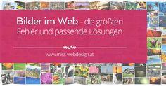 Bilder im Web - Fehler und Lösungen | www.miss-webdesign.at