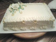 Anniversary sheet cake Buttercream Decorating, Buttercream Fondant, Buttercream Flower Cake, Cake Decorating, Frosting, Anniversary Cake Designs, Wedding Anniversary Cakes, 60 Anniversary, Butter Icing Cake Designs