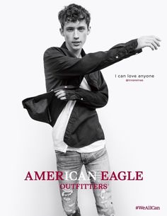 """So. I went to American Eagle today to get jeans. I saw that in the window and screamed """"TROYE!"""" And my mum was like """"shh! You're embarrassing me!"""""""