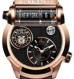 "Jacob & Co. Epic SF24 Flying Tourbillon Watch - by Kenny Yeo Read more at: aBlogtoWatch.com ""No matter your opinion on Jacob & Co., everyone can agree the brand is never boring. At Baselword 2013, Jacob & Co. raised eyebrows by releasing its Epic SF24 travel timer watch. A unique watch, to say the very least, it displayed the local time via a typical dial and time in a separate timezone at 12 o'clock using a special retro-style flip clock..."""