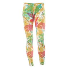WR.UP® SHAPING EFFECT - 7/8 LEGGINGS - RED PATTERNED PRINT