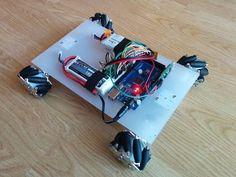This Mecanum wheel robot has some serious parallel parking skills. #Atmel #MecanumWheel #Robotics #Robot #Makers #Arduino