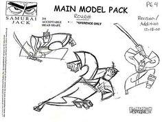 "Art of Animation : penciltests: Model Sheet Monday ""Samurai Jack""..."