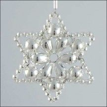 Flower Star Ornament Glass Bead Project Kit ~ All Silver  ~ Czech Republic