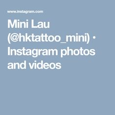 Mini Lau (@hktattoo_mini) • Instagram photos and videos