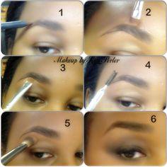 Eyebrow tutorial for a natural looking brow using Cosmetics By Jamie Kern Bright Eye Makeup, Subtle Makeup, Natural Eye Makeup, Smokey Eye Makeup, Eyebrow Threading Machine, Threading Eyebrows, Blue Eyeliner, Glitter Eyeliner, Tweezing Eyebrows