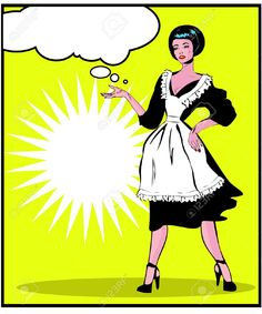 Helpful Housewife - Retro Clip Art In Popart Vintage Style Royalty ...