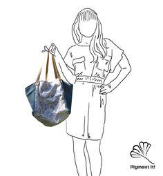 """Cabas """"La Ferme"""", Grand sac à main réversible en  tissu recyclé, cabas, sac à main by Pigmentit on Etsy"""