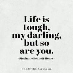 Oh yes I am! Tough, Tough, Tough I survived