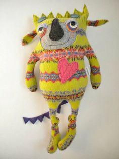 329818372682245449 Felted sweater monster