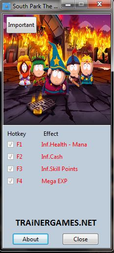 South Park The Stick of Truth Trainer +5 http://trainergames.net/south-park-stick-truth-v1-00-trainer-5-mrantifun/