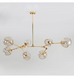 Intricate Pendant Lamp With 7 Lights Of Atilde Copy Lia Kosilightuk Chandelier Bulle, Bubble Chandelier, Wood Chandelier, Black Chandelier, Modern Chandelier, Chandeliers, Lounge Lighting, Dining Room Lighting, Interior Lighting