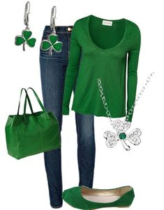 """""""Saint Patty's Day Outfit!"""" by allisonmcg99 ❤ liked on Polyvore"""