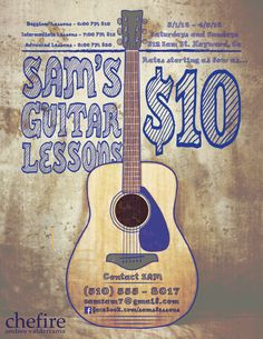 Acoustic Guitar Graphic Design Portfolios Lessons Classes Guitars